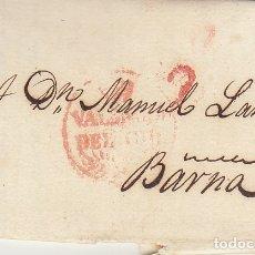 Sellos: VALENCIA A BARCELONA. 1828. Lote 182588825