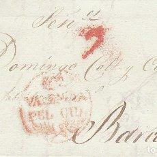 Sellos: VALENCIA A BARCELONA. 1829.. Lote 182721611
