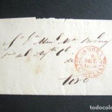Sellos: AÑO 1846. ENVUELTA DE ZAMORA A TORO. MARCA BAEZA EN ROJO. PREFILATELIA. . Lote 182995557