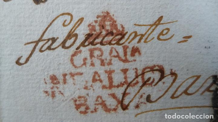 Sellos: CARTA PREFILATELICA DE GRANADA A BARCELONA MARCA EN ROJO ANDALUCIA BAXA Y EN NEGRO NBE6 - Foto 3 - 183169446