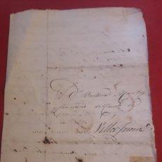 Sellos: PREFILATELIA CARTA DE SANTIAGO A VILLAJUAN 1818. Lote 183655363