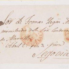 Sellos: PREFILATELIA. FRONTAL. VILLACASTÍN, SEGOVIA. 1843. BAEZA. Lote 183861443