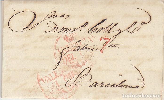 VALENCIA A BARCELONA. 1832 (Filatelia - Sellos - Prefilatelia)