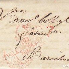 Sellos: VALENCIA A BARCELONA. 1832. Lote 184093716