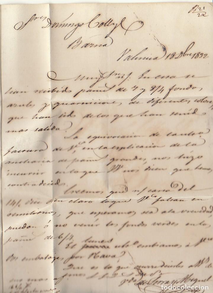 Sellos: VALENCIA a BARCELONA. 1832 - Foto 3 - 184093716