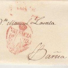 Sellos: VALENCIA A BARCELONA. 1834. Lote 184093936