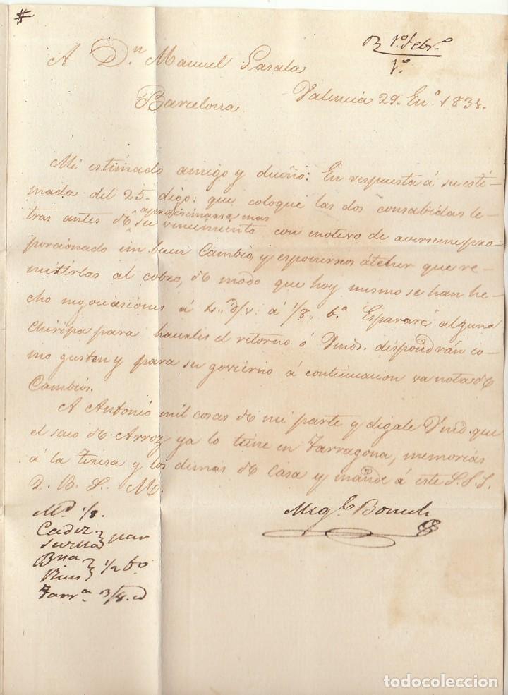 Sellos: VALENCIA a BARCELONA. 1834 - Foto 3 - 184093936