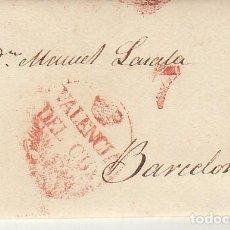 Sellos: VALENCIA A BARCELONA. 1832. Lote 184094247