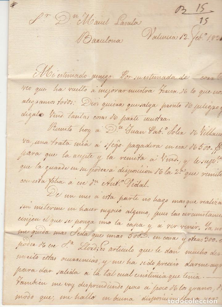 Sellos: VALENCIA a BARCELONA. 1832 - Foto 3 - 184094247