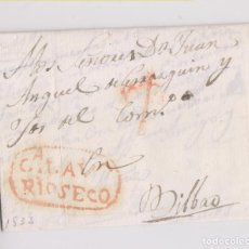 Selos: PREFILATELIA. CARTA ENTERA. RIOSECO, VALLADOLID. 1833. ESTAMPACIÓN LUJO. Lote 184420068