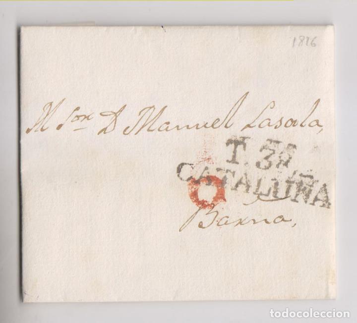 PREFILATELIA. CARTA ENTERA. TÁRREGA, LÉRIDA, LLEIDA. 1826. CATALUÑA (Filatelia - Sellos - Prefilatelia)