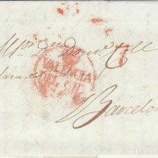 Sellos: VALENCIA A BARCELONA. 1833. Lote 184905108