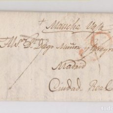 Sellos: PREFILATELIA. CARTA ENTERA CÁCERES A CIUDAD REAL. 1832. PORTEO RECTIFICADO.. Lote 186141925