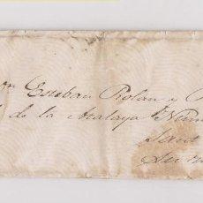 Sellos: SOBRE CONSERVANDO CARTA DE MARZOA. CORUÑA A SANTIAGO. INSCRIPCIÓN: SU MANO. 1861. GALICIA. Lote 186145113