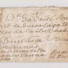 Sellos: PREFILATELIA. CARTA ENTERA MADRID A VITORIA. PAÍS VASCO. PAGADO EL PORTE. BARRILES DE ACEITUNAS 1792. Lote 186318331