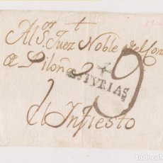 Francobolli: PREFILATELIA. FRONTAL DE OVIEDO AL JUEZ NOBLE DE PILOÑA EN INFIESTO. ASTURIAS. RARA MARCA. Lote 186378552