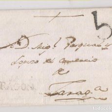 Sellos: PREFILATELIA. CARTA ENTERA. JACA, HUESCA, A ZARAGOZA. . Lote 189709138