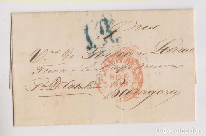 PREFILATELIA. ENVUELTA. PAMPLONA, NAVARRA, A ZARAGOZA. 1846. (Filatelia - Sellos - Prefilatelia)