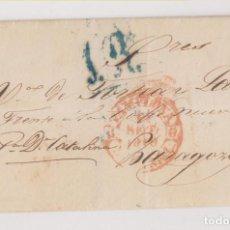 Sellos: PREFILATELIA. ENVUELTA. PAMPLONA, NAVARRA, A ZARAGOZA. 1846.. Lote 189709652