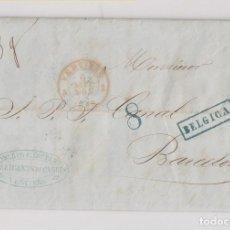 Francobolli: PREFILATELIA. VERVIERS A BARCELONA. 1855. MARCA BÉLGICA. PRECIOSO INTERIOR. Lote 189793388