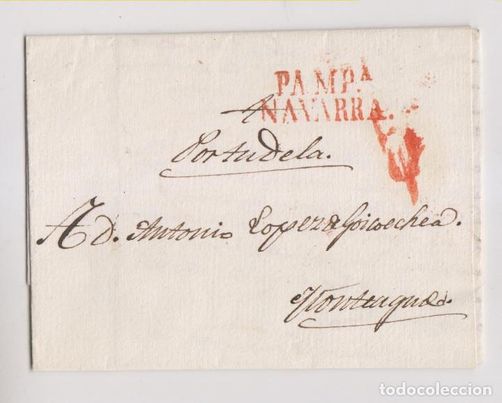 PREFILATELIA. CARTA ENTERA. 1833. PAMPLONA A MONTEAGUDO POR TUDELA, NAVARRA. (Filatelia - Sellos - Prefilatelia)