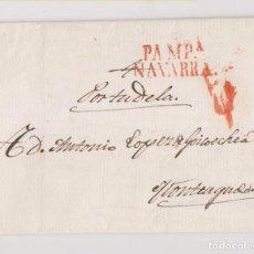 Sellos: PREFILATELIA. CARTA ENTERA. 1833. PAMPLONA A MONTEAGUDO POR TUDELA, NAVARRA.. Lote 190485443