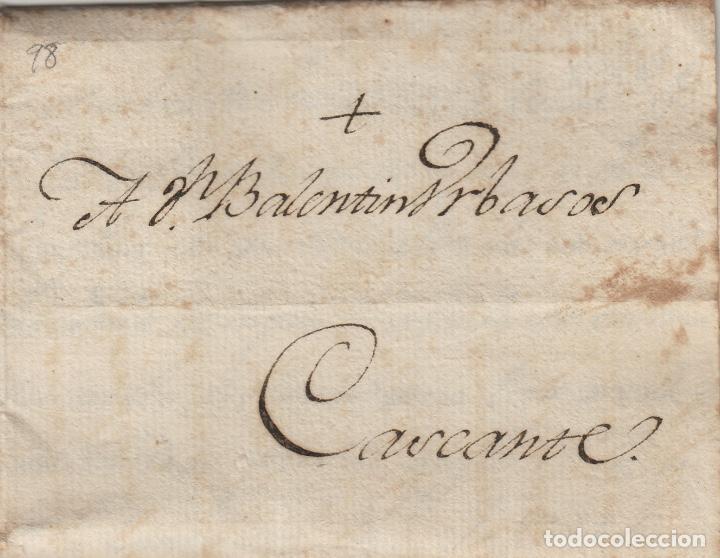 PREFILATELIA NAVARRA AÑO 1802 TUDELA / CASCANTE . CARTA COMPLETA (Filatelia - Sellos - Prefilatelia)