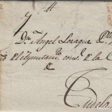 Sellos: PREFILATELIA NAVARRA AÑO 1838 BUÑUEL /TUDELA- . CARTA COMPLETA. Lote 190617283