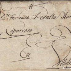 Sellos: PREFILATELIA NAVARRA AÑO 1815 PAMPLONA/ VILLAFRANCA- FRANCISCO PERALTA POR CAPARROSO CARTA COMPLETA. Lote 190621948