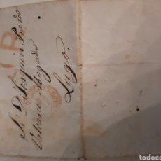Sellos: 1849 VALLADOLID HERENCIA DIRIGIDO LUGO ABOGADO JOAQUÍN PARDO MATASELLO PREFILATELIA. Lote 190850176