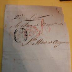 Sellos: 1850 ZAR JUEZ SANTA MARTA DE ORTIGUEIRA LA CORUÑA PREFILATELIA GALICIA MATASELLO. Lote 190851643