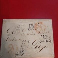 Sellos: 1854 CORUÑA DIRIGIDO LUGO. Lote 191030451