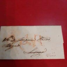 Sellos: 1853 MADRID DESTINO LUGO MATASELLO GALICIA. Lote 191030963