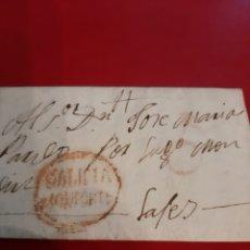 Sellos: 1823 MATASELLO GALICIA MONFORTE DESTINO LUGO FILATELIA COLISEVM NUMISMÁTICA COLECCIONISMO ANTIGÜEDAD. Lote 191031130