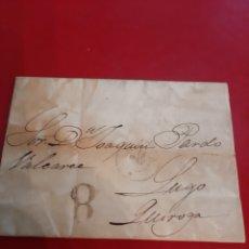 Sellos: 1855 DESTINO QUIROGA LUGO ENVIADO DESDE CORUÑA. Lote 191033256