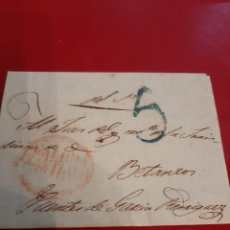 Sellos: 1830 CARTA DIRIGIDA JUEZ DE BETANZOS PUENTE GARCIA RODRÍGUEZ LA CORUÑA MATASELLO BETANZOS GALICIA. Lote 191035727