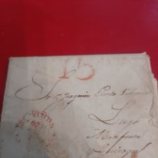 Sellos: 1850 MATASELLO GALICIA DESTINO QUIROGA MONFORTE LUGO. Lote 191036010