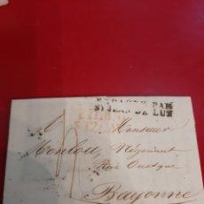 Francobolli: 1834 BILBAO DESTINO BAYONNE MUESTRAS TEJIDOS. Lote 191077751