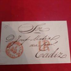 Sellos: 1847 CORUÑA GALICIA MATASELLO DESTINO CADIZ. Lote 191243553