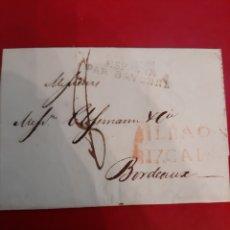 Sellos: 1815 BILBAO VIZCAYA ESPAÑA PAR BAYONNE. Lote 191243752