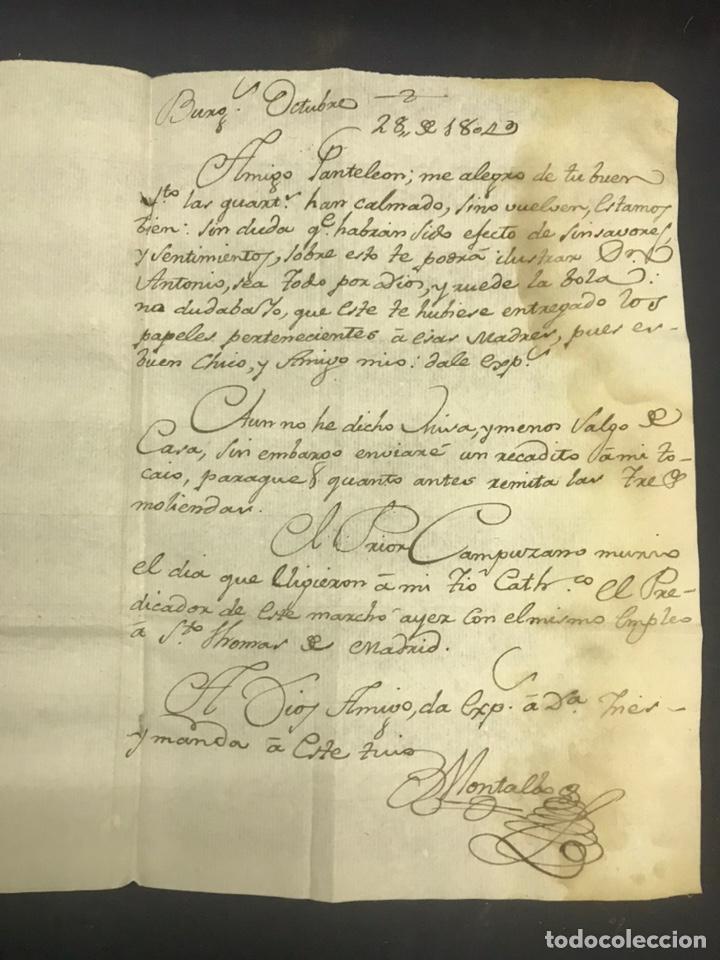 Sellos: 1804. BURGOS 9 DE NOVIEMBRE DE 1804. DOS MARCAS DE BURGOS Y 5. - Foto 3 - 192474406