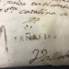 Sellos: 1804. MARCA CAVA PEÑAFIEL. CARTA ENVIADA DESDE TORTOLÉS. MARCA NEGRA Y 4 NEGRO.. Lote 192475003