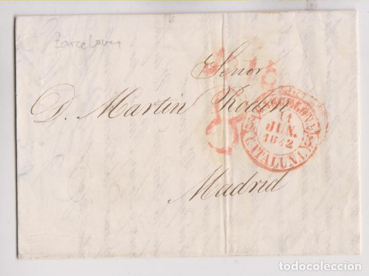 PREFILATELIA. CARTA ENTERA. TEMPRANO BAEZA DE BARCELONA DE 11 DE JUNIO DE 1842 (Filatelia - Sellos - Prefilatelia)