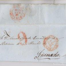 Sellos: PREFILATELIA. CARTA ENTERA. MADRID, 1843. AL COMANDANTE. DE VETERANOS DE LA ALHAMBRA, GRANADA. Lote 194090477