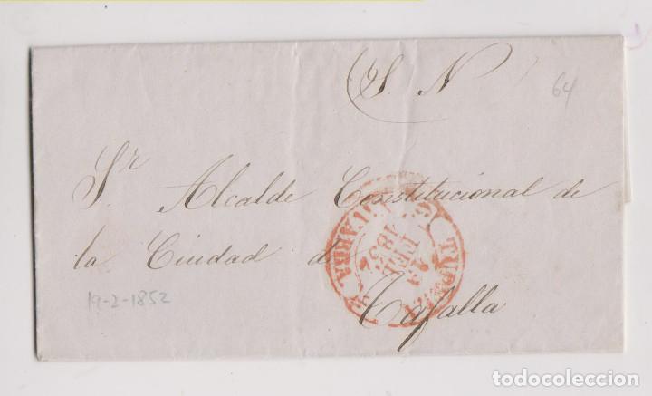 PREFILATELIA. CARTA ENTERA DEL S. N. TUDELA AL ALCALDE DE TAFALLA, NAVARRA. 1852 (Filatelia - Sellos - Prefilatelia)
