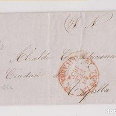 Sellos: PREFILATELIA. CARTA ENTERA DEL S. N. TUDELA AL ALCALDE DE TAFALLA, NAVARRA. 1852. Lote 194090598