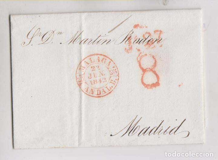 PREFILATELIA. CARTA. MÁLAGA A MADRID. TEMPRANO BAEZA DE 22 DE JUNIO DE 1842 (Filatelia - Sellos - Prefilatelia)