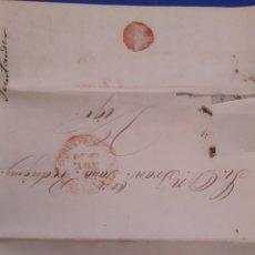 Sellos: PREFILATELIA CARTA ENVUELTA SANTADER VIGO 1850. Lote 194285135