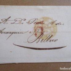 Sellos: CIRCULADA 1845 DE TOLOSA GUIPUZCOA A BILBAO VIZCAYA CON MARCAS BAEZA. Lote 194552191