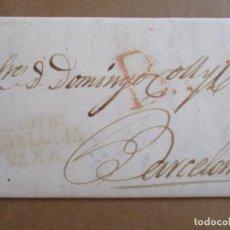 Sellos: CIRCULADA Y ESCRITA 1822 DE MOTRIL GRANADA A BARCELONA. Lote 194552347